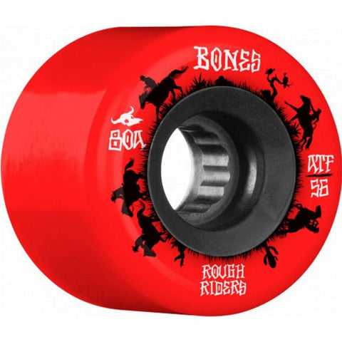 Bones Wheels - ATF Rough Riders 80A 60B 56mm - Red