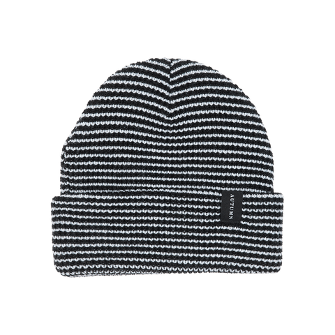 Autumn Headwear - Select Stripe Beanie Black