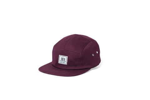 theTRUTH Essentials 5 Panel Hat 18 - Burgundy
