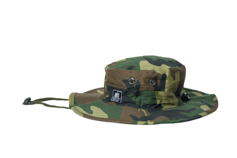 theTRUTH Essentials Safari Hat 18 - Woodland Camo