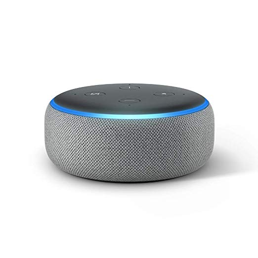 Echo Dot (3rd Gen) - New and improved smart speaker with Alexa - Heather Gray