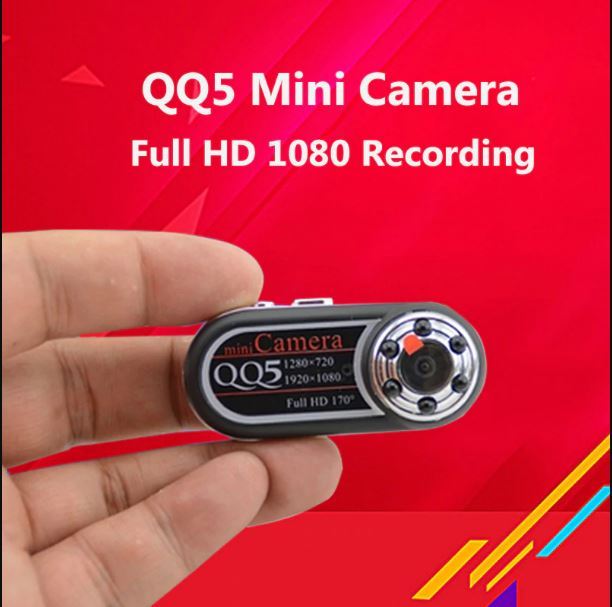 Full HD QQ5 Mini DVR Camera With 12MP Webcam 170 Wide Angle