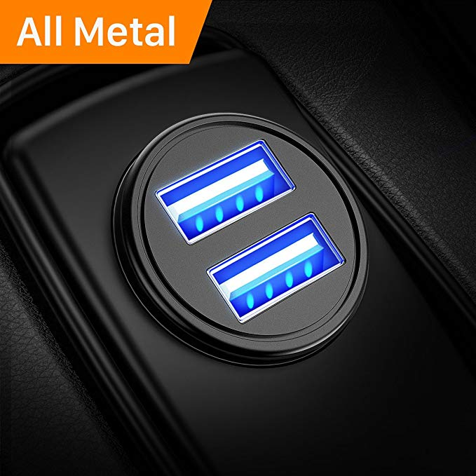 Ainope 4.8A Aluminum Alloy Car Charger