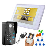 "MOUNTAINONE 7"" Wired / Wireless Wi-Fi RFID Password Video Doorbell"