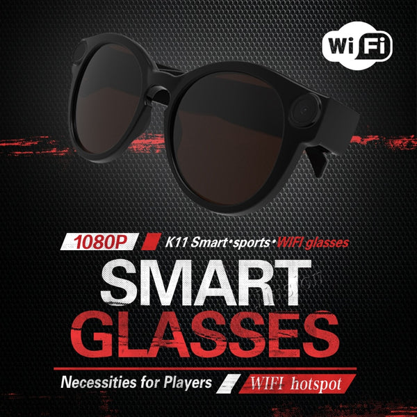 Full HD Smart Glasses Wi-Fi Camera For IOS Android Full HD