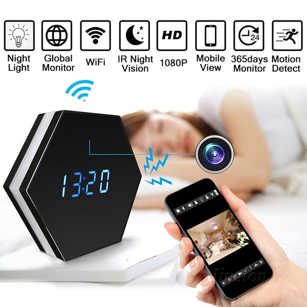 YYS SPY Wi-Fi Mini Camera Alarm Clock
