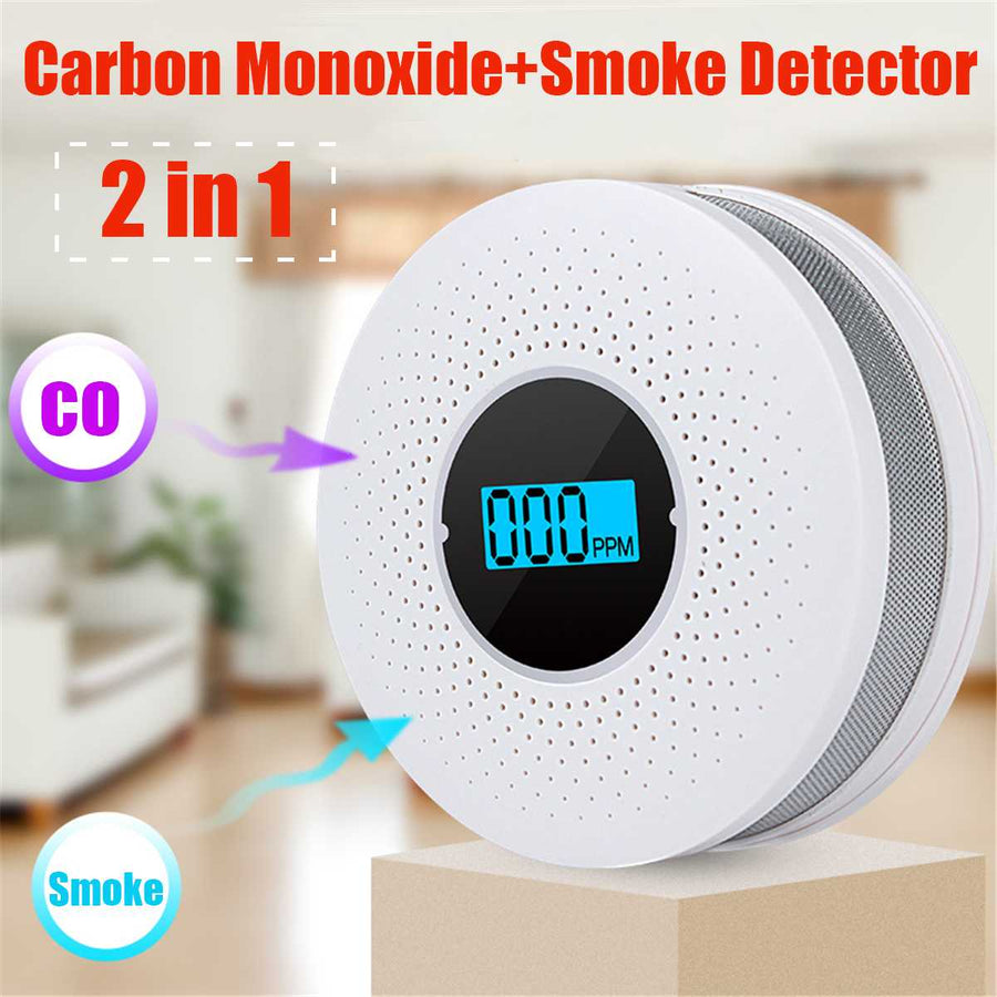 LED Digital Gas Smoke Alarm Carbon Monoxide Detector