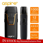 Original Aspire Pod Vape Nautilus AIO kit fit BVC coil 1.8ohm