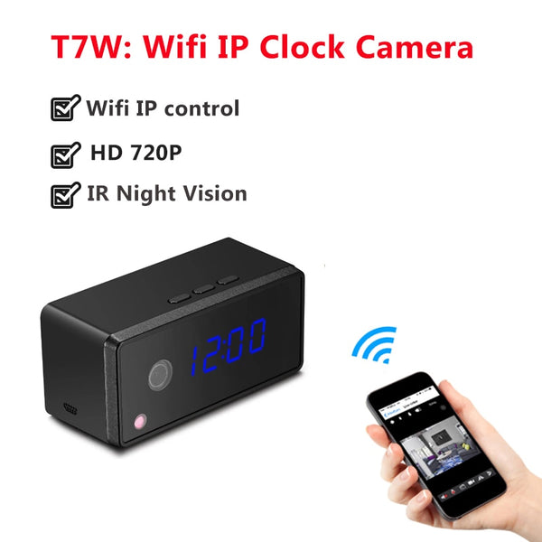 YYS SPY Wi-Fi Mini Camera Remote Control Clock