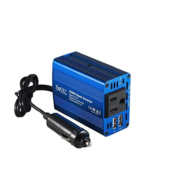 Foval 150W Power Inverter DC  with 3.1A Dual USB Car Charger