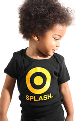 Splash (Baby Black Onesie)