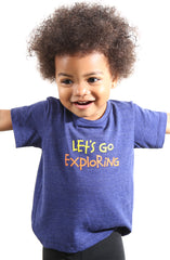 Let's Go Exploring (Baby Navy Heather Tee)