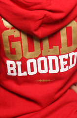 GOLD BLOODED Women's Red/Gold Zip Hoody
