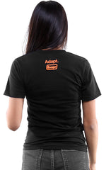 Booger Kids X Adapt :: Rock Paper Cut (Women's Black/Orange V-Neck)