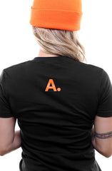 CTA (Women's Black/Orange V-Neck)