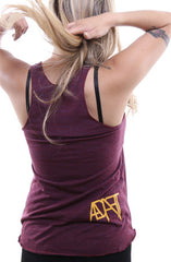 Guns Out (Women's Cranberry Racerback Tank)
