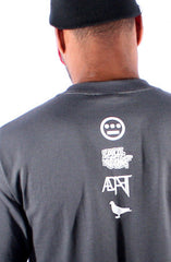 Hieroglyphics X Adapt :: 93 'til (Men's Charcoal Tee)