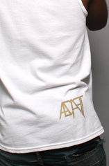 GOLD BLOODED Men's White/Gold Tank