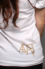 Full Faith (Women's White/Gold V-Neck)