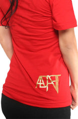 Beat LA (Women's Red/Gold V-Neck)