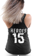 Hometown Heroes x Adapt :: F.C. (Women's Black Racerback Tank)