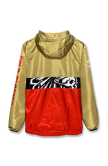 SAVS X Adapt :: Gold Blooded Chiefs (Men's Gold/Red Anorak Jacket)