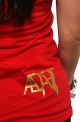 GOLD BLOODED Women's Red/Gold Tank Top