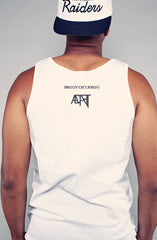 Breezy Excursion x Adapt :: Shark (Men's White Tank)