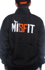 Misfit (Men's Black/Orange Nylon Jacket)