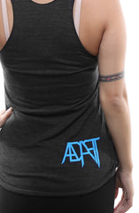 Above & Beyond (Women's Black Racerback Tank)