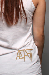 GOLD BLOODED Women's White/Gold Tank Top