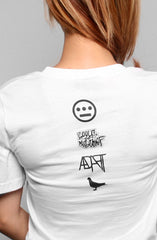 Hieroglyphics X Adapt :: 93 'til (Women's White V-Neck)
