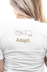 Bruce Miller X Adapt :: Miller Time (Women's White V-Neck)