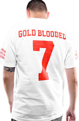 Gold Blooded Legends :: 7 (Men's White Tee)