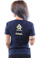 Frozen Kuhsterd X Adapt :: Cold Blooded (Women's Navy Tee)