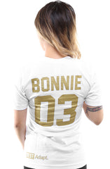 Breezy Excursion X Adapt :: Down To Ride GOLD Edition (Bonnie) (Women's White V-Neck)