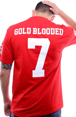 Gold Blooded Legends :: 7 (Men's Red Tee)