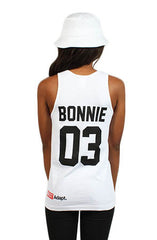 Breezy Excursion X Adapt :: Down To Ride (Bonnie) (Women's White Tank Top)