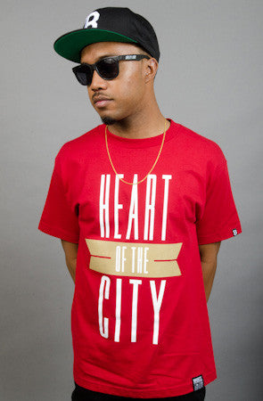 Breezy Excursion X Adapt :: Heart of the City (Men's Cardinal/Gold Tee)