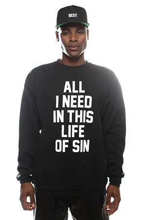 Breezy Excursion X Adapt :: All I Need (Men's Black Crewneck Sweatshirt)