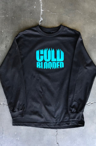 Cold Blooded Chomp (Men's Black Long Sleeve Tee)