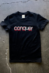Conquer Cancer (Women's Black Tee)