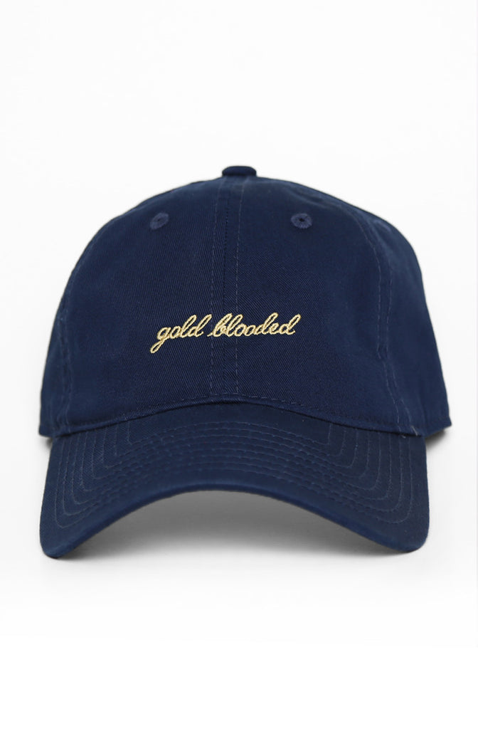 Gold Blooded (Navy Low Crown Cap)