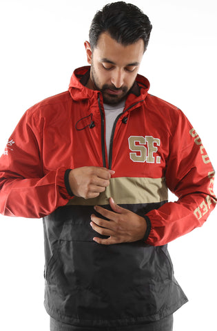 SAVS X Adapt :: Gold Blooded Chiefs (Men's Red/Black Anorak Jacket)