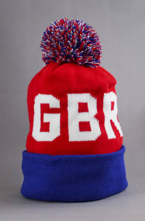 LAST CALL - Fully Laced X Adapt :: Great Britain Beanie (Red/Blue)