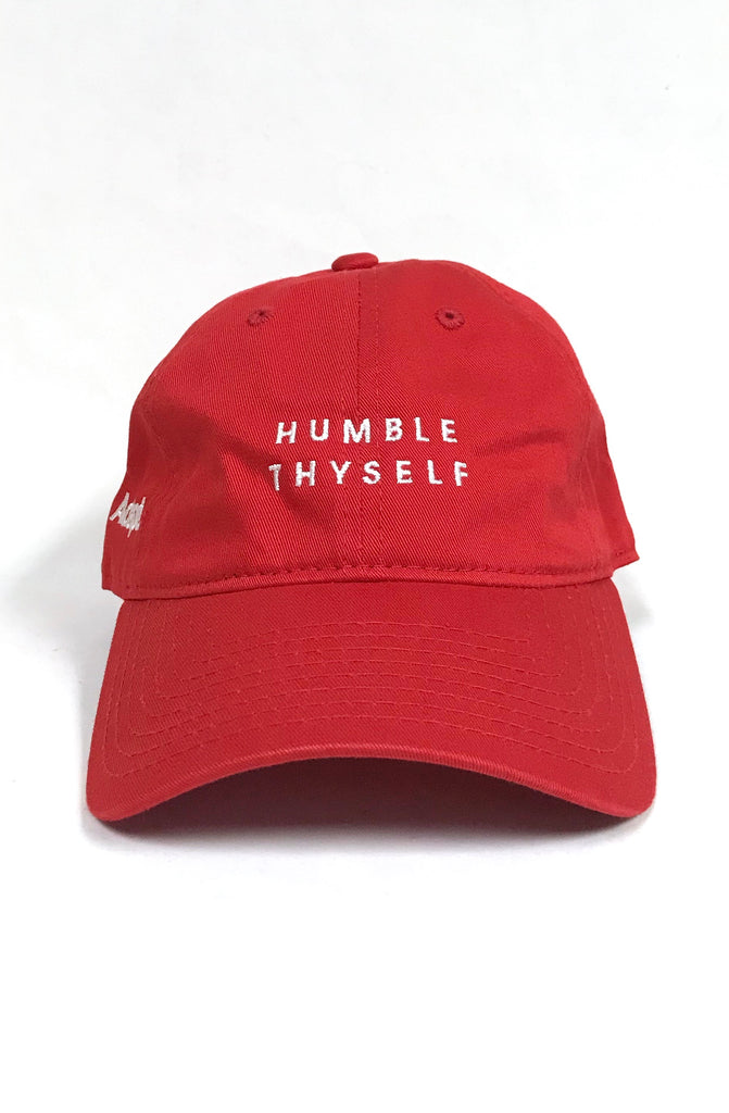 Humble Thyself (Red Low Crown Cap)