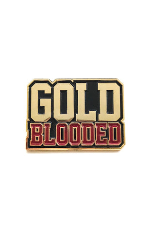 Gold Blooded (Gold Enamel Pin)