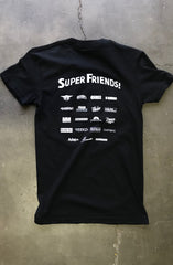 Super Friends x Adapt :: Super Friends (Women's Black Tee)