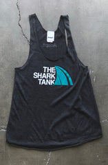 The Shark Tank (Women's Black Racerback Tank)