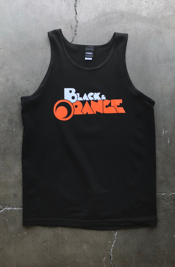 Black & Orange (Men's Black Tank)